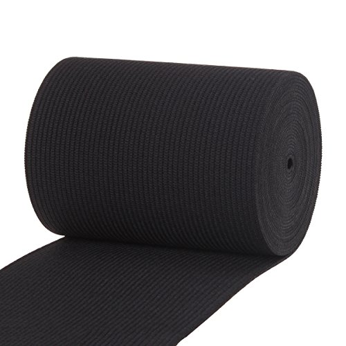 Cotowin 3-Inch Wide Black Knit Heavy Stretch Elastic 3 Yards
