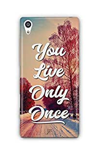 YuBingo You Live Only Once Designer Mobile Case Back Cover for Sony Xperia Z5 Premium