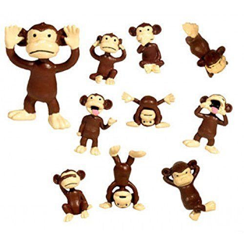 Monkeyin' Around Figures Monkey Party Favors * 36 PCS * Cup Cake Toppers NEW