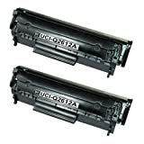 UCI Remanufactured Toner Cartridge Replace Q2612A - 2 Black For HP Printers ( Non-Original )