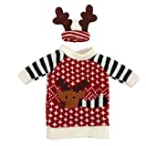 Bottle Cover, Yasalu Red Wine Bottle Cover Santa Claus Christmas Bags Decoration Home Party