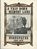 img - for A Trip Down Memory Lane: Hornepayne 1928-1978 book / textbook / text book
