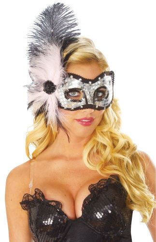 Costume Culture Women's Pink Cat Eyes Feather Mask, Pink, One Size - 1