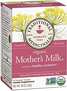 Traditional Medicinals Organic Mother's Milk Tea, 16 Tea Bags (Pack of 6)