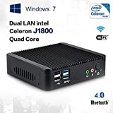 Mini PC Dual Lan Intel Windows 7 Intel Celeron J1800 Smart TV Box Micro Desktop (8GB DDR3 RAM 64GB SSD, Intel...