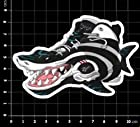 Shaq Shaquille Oneal Shaqnosis Shark Attack Black/White Sticker Sneakers Shoes