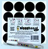 Ziggyboard Chalkboard for Small Spice Jar size Labels with Chalk Marker fit Libbey 4 1/2 Ounce