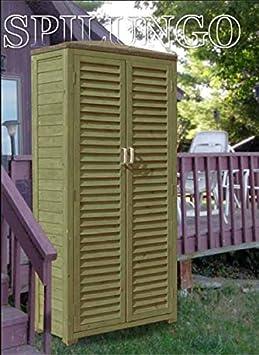 armadio a 2 ante in legno 69x43x96 spilungo by jarsya ripostiglio balcone giardino confronta. Black Bedroom Furniture Sets. Home Design Ideas