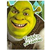 Shrek - Thanks for Coming - Party Thank You Cards