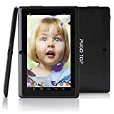 """Pugo Top® P7 7"""" Quad Core Google Android 4.4 Kitkat Tablet Pc, Dual Camera Hd 1024*600 Multi-touch Screen Hd Screen with 5 Point Capacitive Touch, Allwinner A33 Cpu, Dual Cameras(2/2mp), Tablet 8gb Nand Flash ,Google Play,3d Game Supported"""