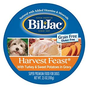 Bil-Jac Harvest Feast Turkey & Sweet Potatoes 3.5 Ounces Wet Grain Free Dog Food (Pack of 12)