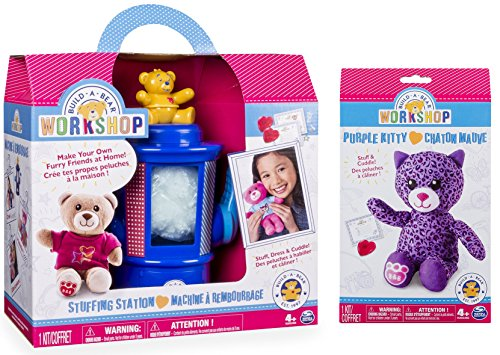 Build-A-Bear Workshop Stuffing Station and Purple Kitty Refill Pack 2 Piece Bundle (Build A Bear Bundle compare prices)
