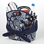 Maui Belted Beach Tote (Navy Summer Paisley)