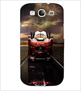PrintDhaba Car D-4388 Back Case Cover for SAMSUNG GALAXY S3 (Multi-Coloured)