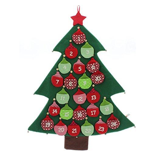 adventskalender tannenbaum mit gl ckchen weihnachten. Black Bedroom Furniture Sets. Home Design Ideas