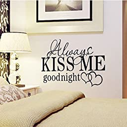Hamuty Always KISS ME goodnight Wall Stickers for Decor
