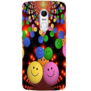 Casotec Cheerful Smiley Design 3D Printed Back Case Cover for Lenovo Vibe X3