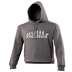 EVOLUTION DOG WALKER - PREMIUM HOODIE (VARIOUS COLOURS) S M L XL 2XL 3XL 4XL 5XL - by Fonfella