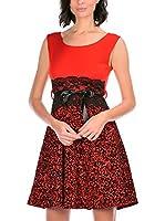Boheme à Paris Vestido Shana (Rojo)