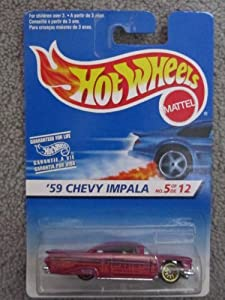 1996 Hotwheels #5 of 12 59 Chevy Impala