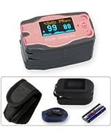 Doigt oxymètre de pouls MD 300 C54 pour les enfants inclus Libre de silicone protecteur et 2 piles (AAA)