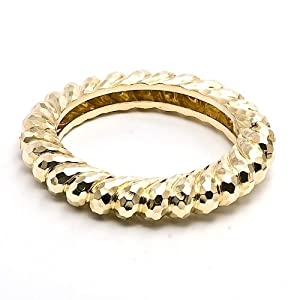 Henry Dunay 18k Gold Swirl Bangle Bracelet