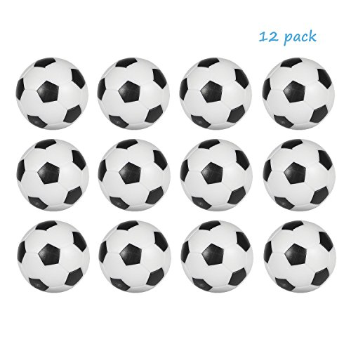 Table Soccer Foosballs Replacement balls Mini Black and White 36mm official foosball 12 Pack (Soccer Balls Package compare prices)