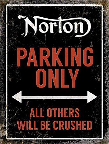 blechschild-norton-parking-only