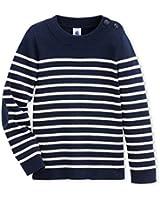 Petit Bateau - Sweat-shirt - À rayures - Col rond - Manches longues - Garçon