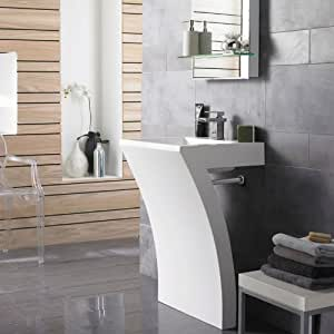 hudson reed meuble de salle de bain asym trique blanc avec lavabo int gr design original en. Black Bedroom Furniture Sets. Home Design Ideas