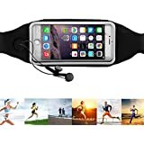 Running Belt,URPOWER® Running Fanny Pack for Cycling, Hiking, Walking, Running, Riding bikes, Fitness.Dual Pocket Lycra Sweatproof Pouch fits iPhone 6 Plus,Samsung Galaxy S6 Edge Nokia HTC Blackberry