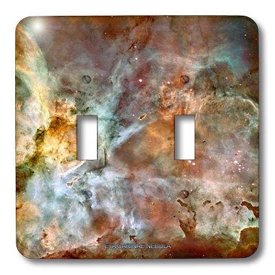 Lsp_76816_2 Sandy Mertens Space Gallery - Galaxy And Nebula - Eta Carinae Nebula By Nasa Hubble Telescope - Light Switch Covers - Double Toggle Switch