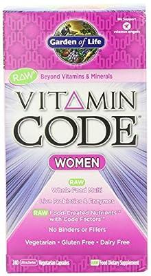 Garden of Life Vitamin Code Raw Women's Multivitamin, 480 Capsules