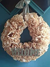 DIY Coffee Filter Wreath TutorialFrugality Gal