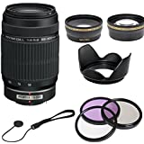 Pentax DA L 55-300mm f/4-5.8 ED Lens for For Pentax k-5, k5 ,k-r, kr k-x, kx and Samsung Digital SLR Cameras with 0.45x Wide Angle Macro Lens, 2x Telephoto Lens, 3 Piece Filter Kit (UV,CPL,FLD), Lens Hood & Lens Cap Keeper