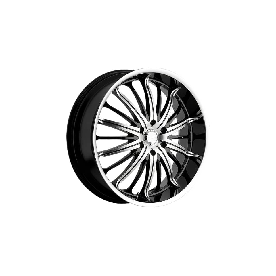 Akuza Belle 22x8.5 Machined Black Wheel / Rim 5x115 with a 35mm Offset and a 74.10 Hub Bore. Partnumber 761085541+35GBMT