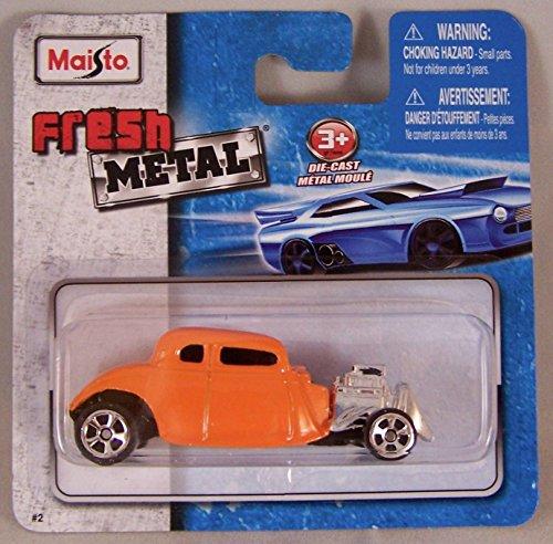Maisto Fresh Metal Die-Cast Vehicles ~ 1934 Ford Hot Rod (Orange)