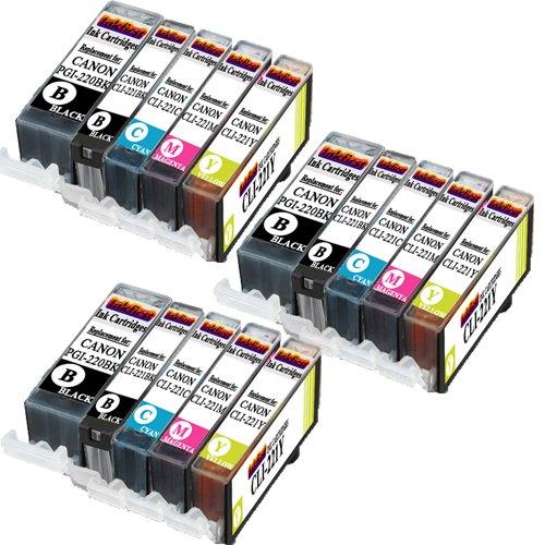 Canon PGI-220/CLI-221 Ink Cartridges Non OEM - 3 Set of 5 Ink Cartridges PGI-220BK