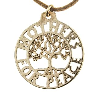 Mothers for Peace Tree of Life Pendant Necklace (Peace Bronze)