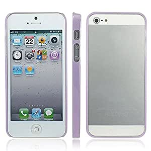 Colorful Slim Clear Bumper Case Skin Frame Cover for Apple iPhone 5 5th 5 Gen Light Purple