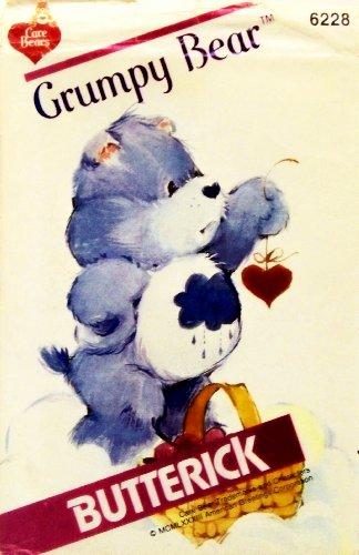 Care Bear Grumpy Bear Sewing Pattern Butterick 6228 Vintage 1983 Stuffed Bear front-529544