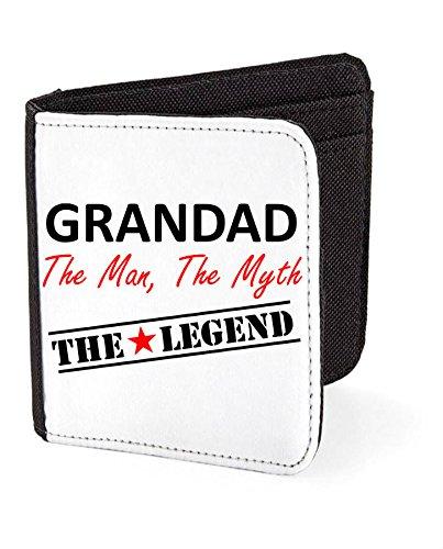 """Grandad """", motivo: The Legend, The Myth Father's Day-Porta carte da regalo, nero (Nero) - SW-granleg-Black"""