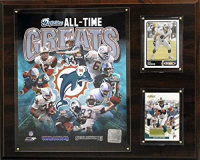 NFL Miami Dolphins All-Time Great Photo Plaque, 12x15-Inch