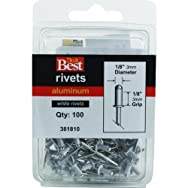 Do it Best Global Sourcing381810Do it Best POP Rivets-1/8X1/8 WHT ALUM RIVET