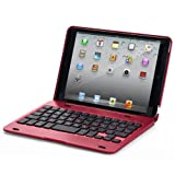 Carry360 the Best Price Wireless Bluetooth 3.0 Keyboard and Removable Case Cover for Ipad Mini (Red)