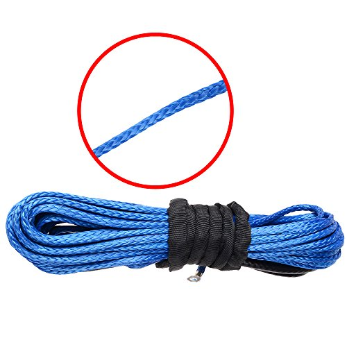 316-x-50-Durable-Synthetic-Winch-Rope-Cable-Line-5400-Lbs-BLUE-with-Sheath-For-ATV-UTV-KFI-Vehicle-Car-Motorcycle