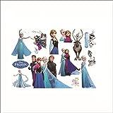 Elsa Anna Decal Removable Home Decor Kids Art Mural Frozen Wall Sticker