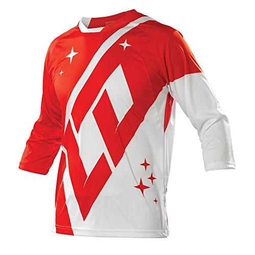 Troy Lee Designs, Maglia da ciclismo con maniche a 3/4 Uomo Ruckus, Rosso (Rot), S