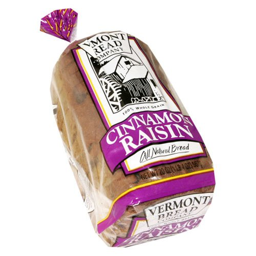 Vermont Bread Company All Natural Cinnamon Raisin Bread 20 Oz - 2 Packs