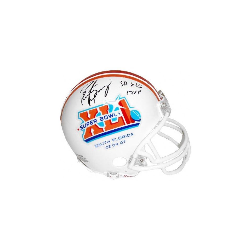 Peyton Manning Indianapolis Colts Autographed SBXLI Logo